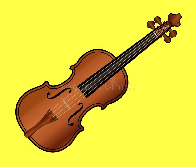 Download Violin On Yellow Background Stock Illustration - Illustration of orchestra, bridge: 23094003