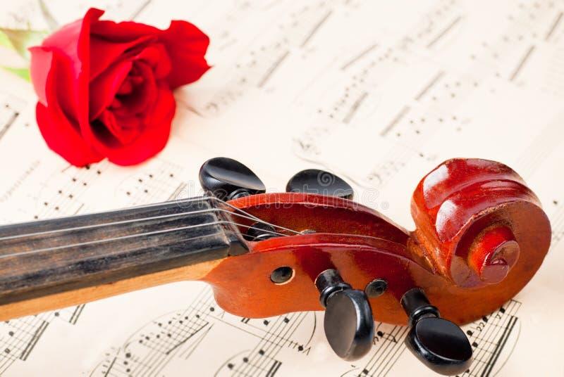 Violine auf Anmerkungen lizenzfreies stockfoto