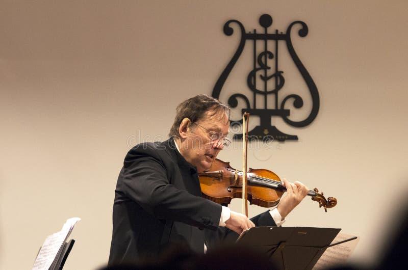 Violine im Konzert stockfoto