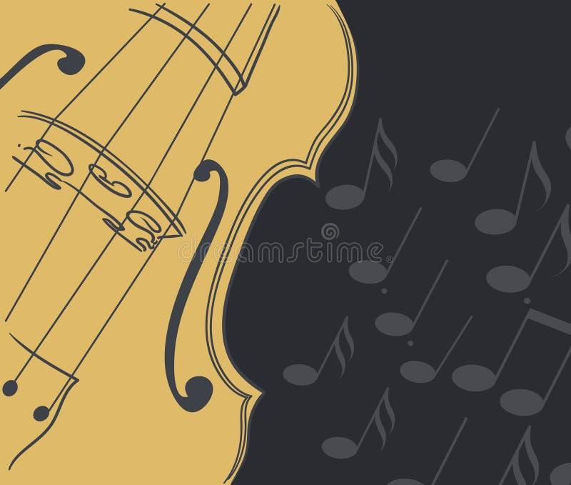 Violine mit Anmerkungen stock abbildung