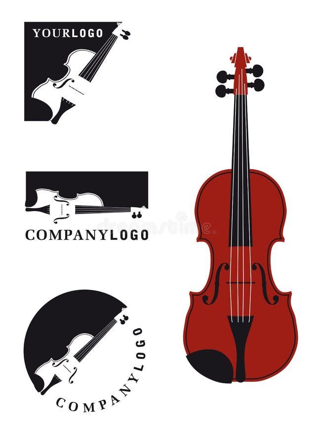 Violine oder Viola lizenzfreie abbildung