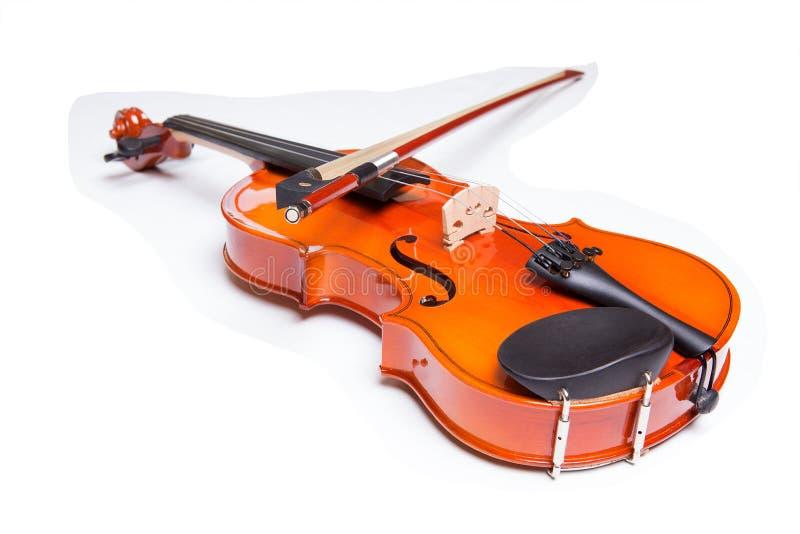Violine und Bogen lizenzfreies stockbild