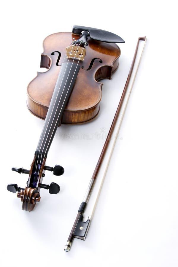 Violine und Bogen lizenzfreie stockfotos