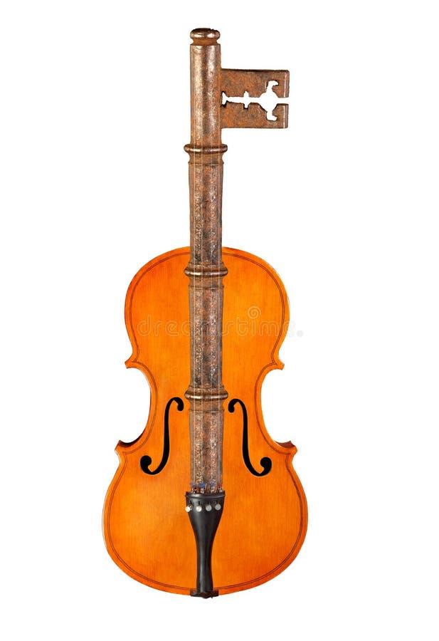 Violine und rostige Taste lizenzfreie stockbilder
