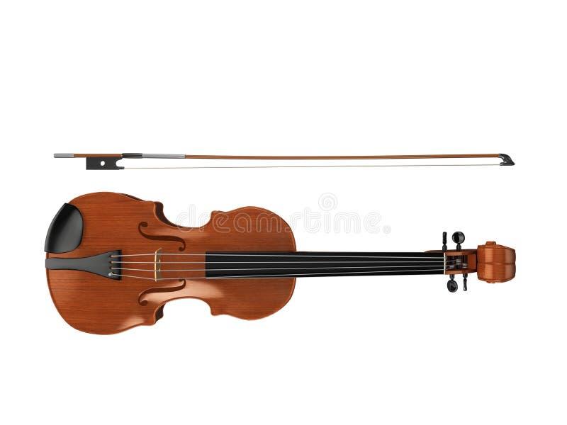 Violine von oben vektor abbildung