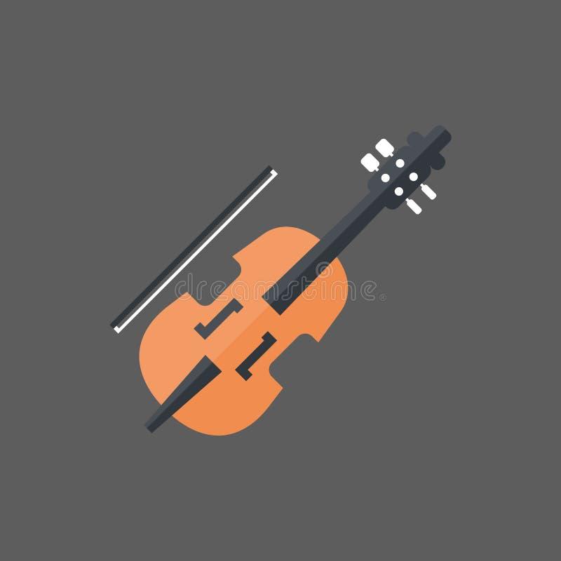 Violinen-Ikonen-Musik-Instrument-Konzept stock abbildung