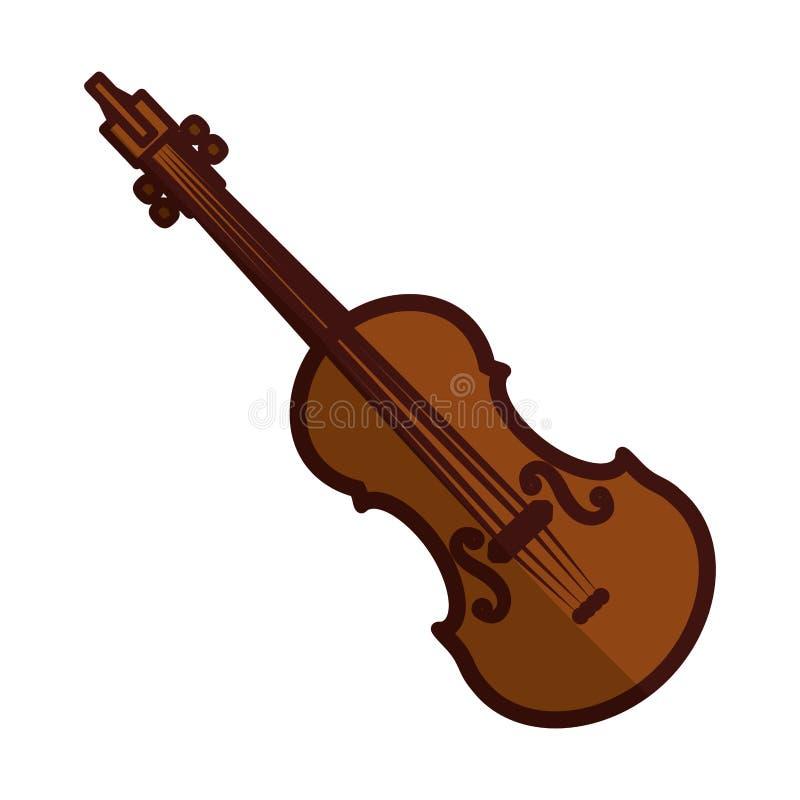 Violinen- oder Violaikonenbild stock abbildung