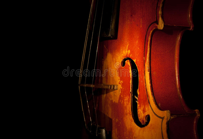 Violinendetail stockbild