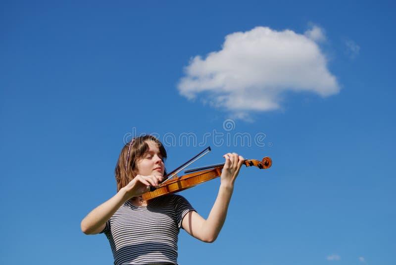 Violinenspieler stockbilder