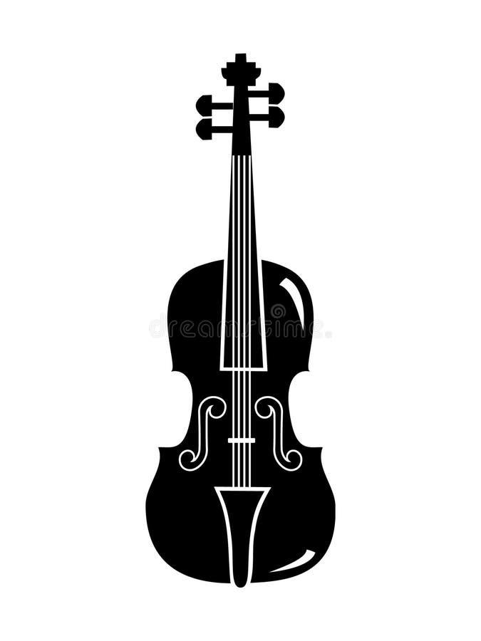 Violinenvektor stock abbildung