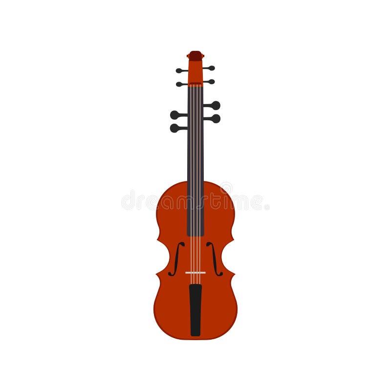 Violinenvektor-Musikinstrument-Illustrationsmusicalikone Classi lizenzfreie abbildung