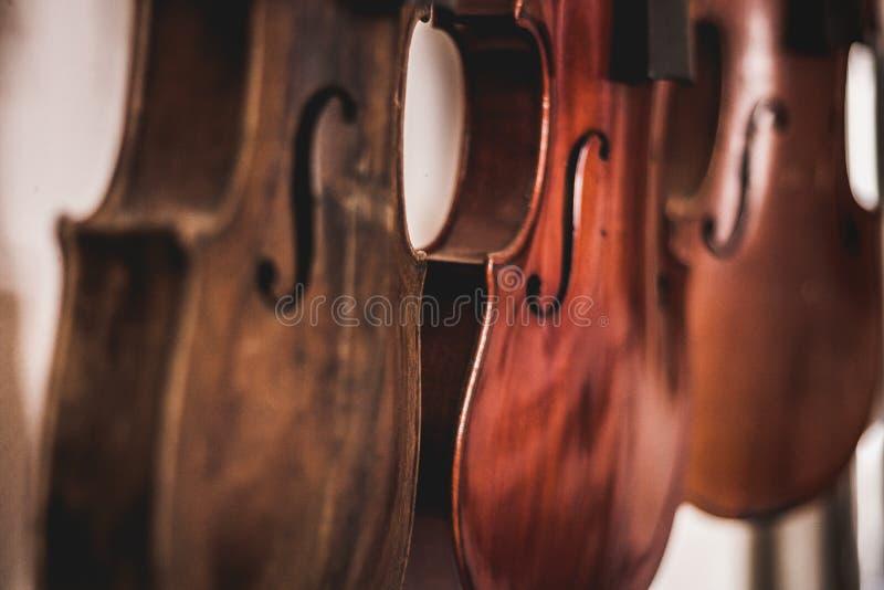 Violini fatti a mano Arte di falegnameria, un'occupazione onesta all'interno di uno stile di vita sostenibile Carpenteria e tagli immagine stock libera da diritti