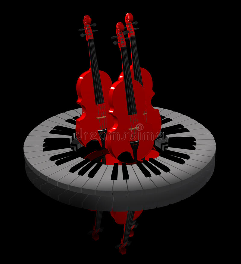 Violini rossi fotografie stock
