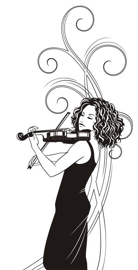 violinist royaltyfri illustrationer