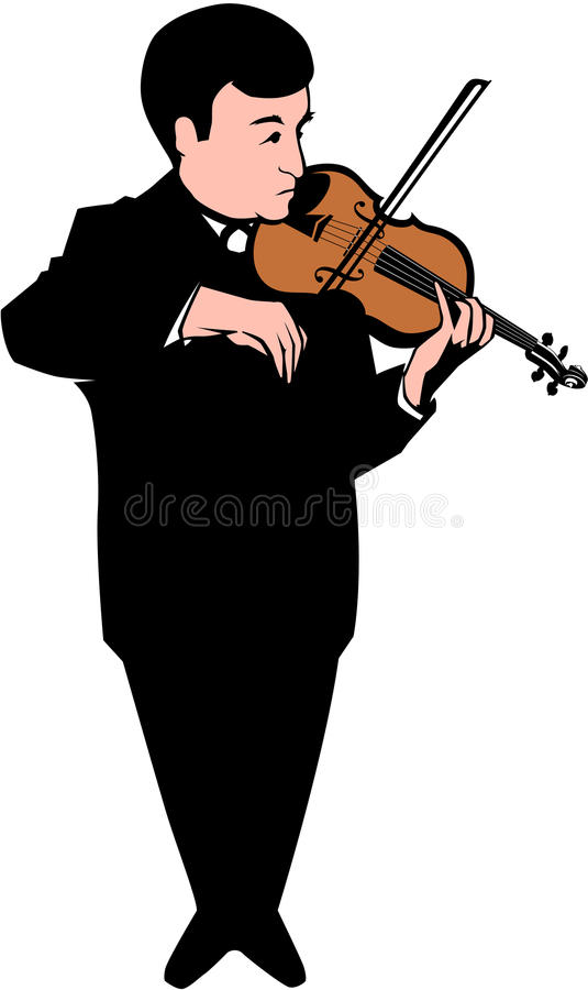 Download Violinist stock vector. Image of instruments, entertainment - 16307212