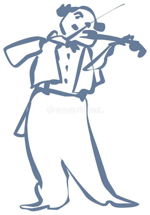 Download Violinist stock vector. Illustration of instrument, fiddler - 21939108
