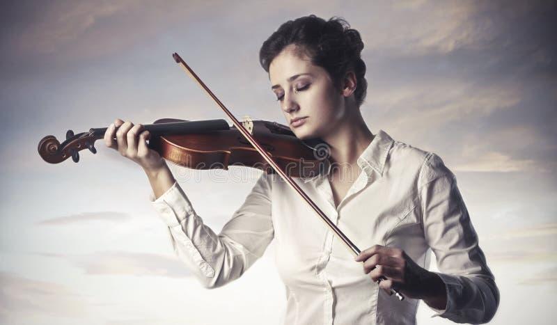 Violinista imagenes de archivo