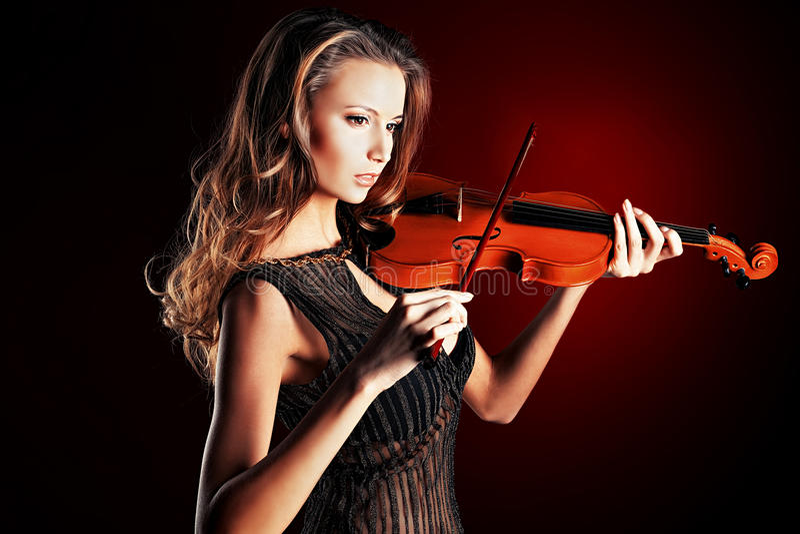 Violinista immagine stock libera da diritti