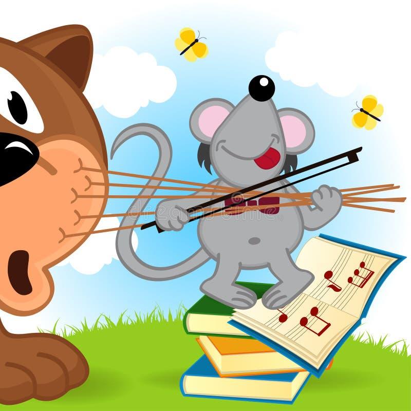 Violinista do rato ilustração royalty free