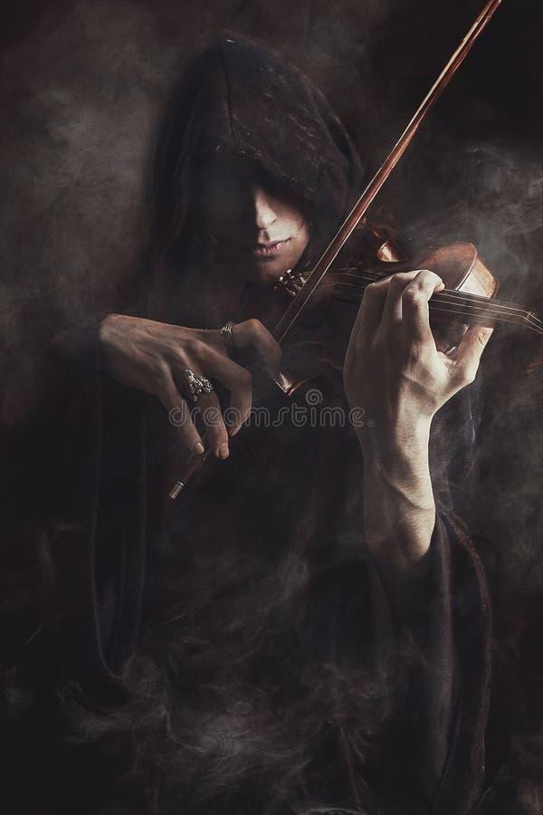 Violinista fantasma immagini stock