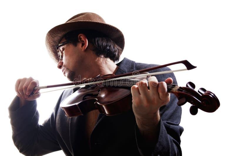 Violinista que joga o violino fotos de stock