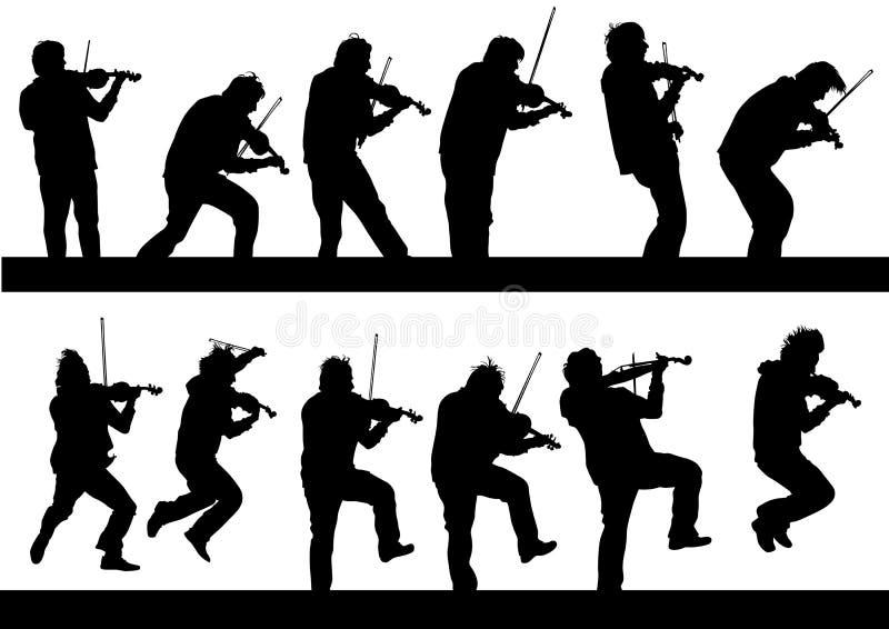 Violinista um concerto ilustração stock