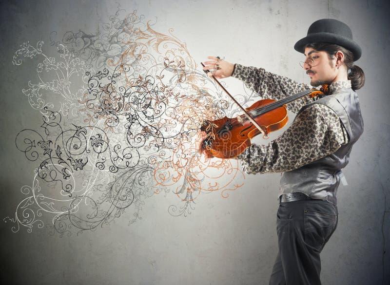 Violinisten royaltyfri fotografi