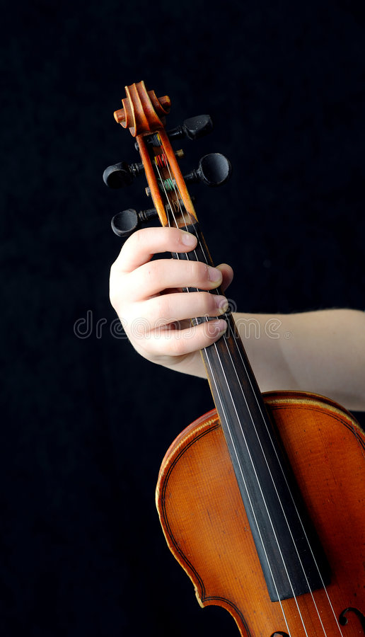 Violinisten lizenzfreie stockfotografie