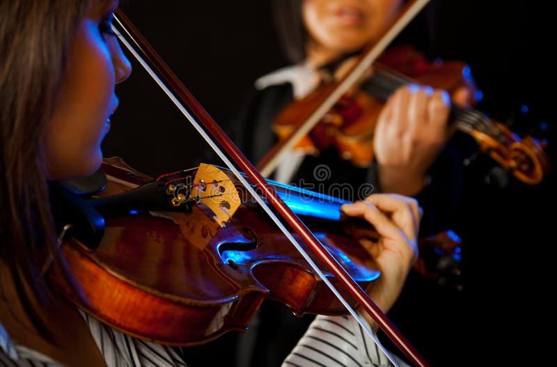 Violinisti femminili fotografia stock