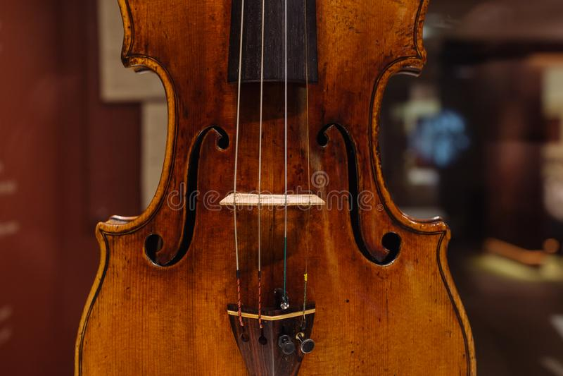 Violino, Antonio Stradivary, Cremona, Itália, 1707 foto de stock royalty free
