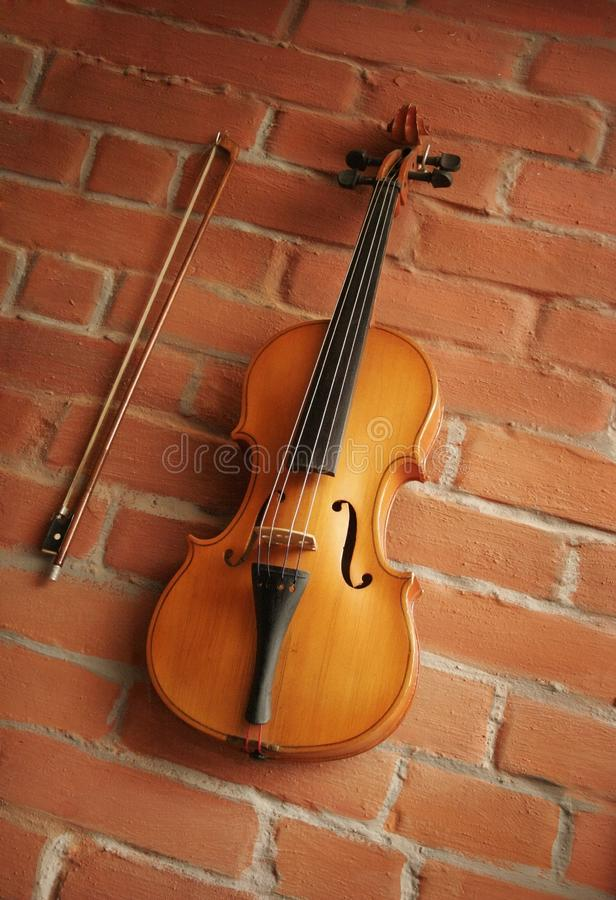Violino & arco fotografie stock libere da diritti