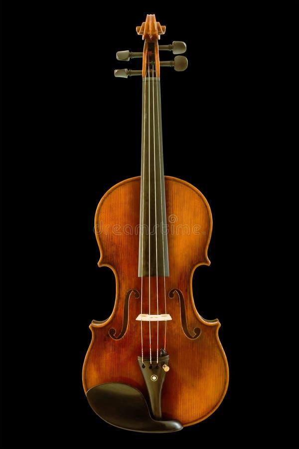 Violino bonito do vintage isolado com trajeto de grampeamento imagem de stock