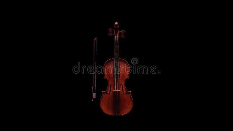 Violino clássico Front View fotografia de stock