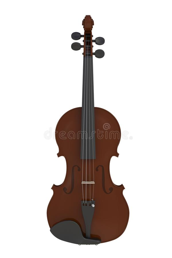 Violino clássico isolado no fundo branco, instrumento da corda fotografia de stock royalty free