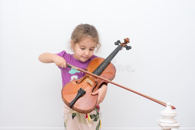 Violino da criança imagens de stock