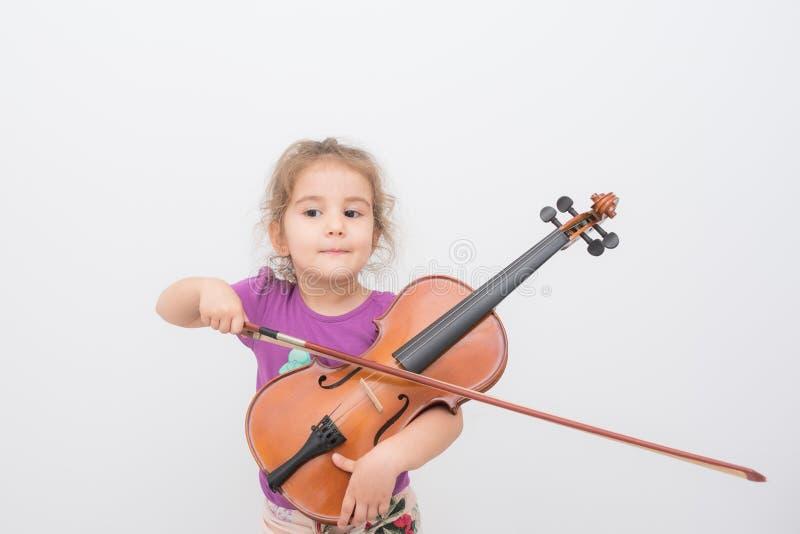 Violino del bambino fotografia stock libera da diritti