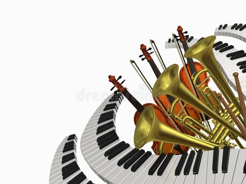 Violino di musica illustrazione vettoriale
