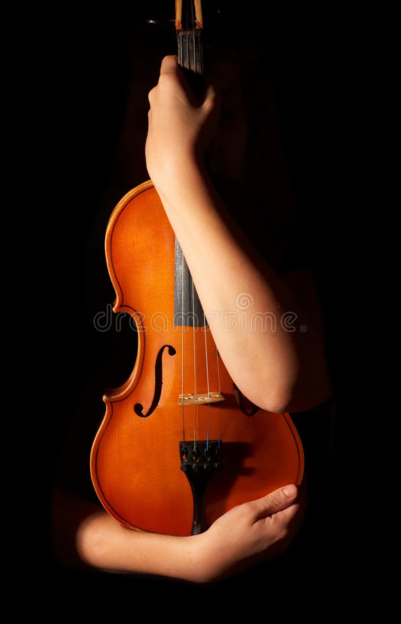 Violino do vintage fotografia de stock royalty free