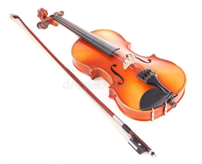 Violino e curva fotografia de stock
