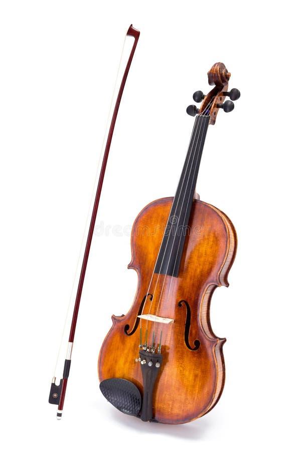 Violino e curva imagens de stock royalty free