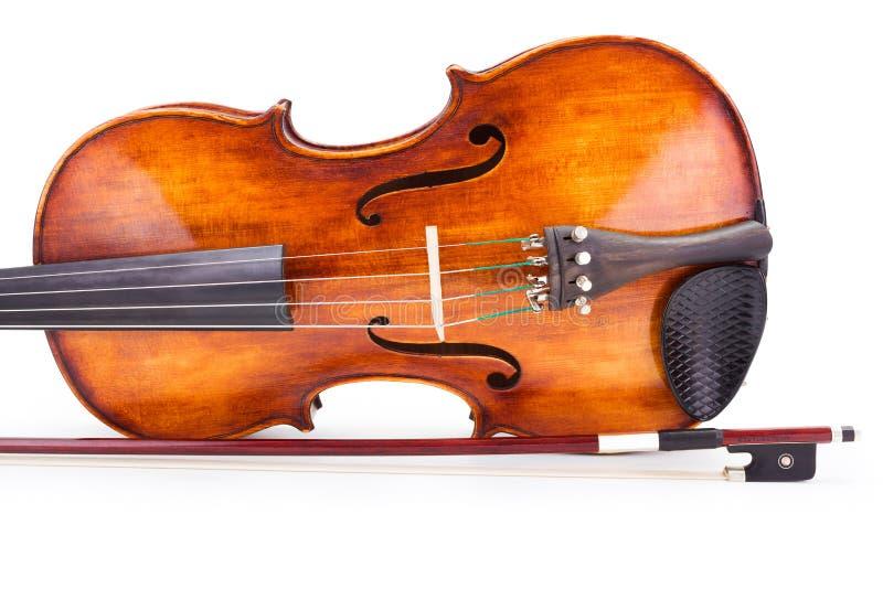 Violino e curva de Brown fotos de stock royalty free