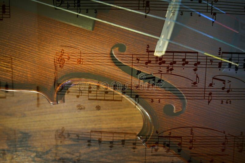 Violino e nota fotos de stock royalty free