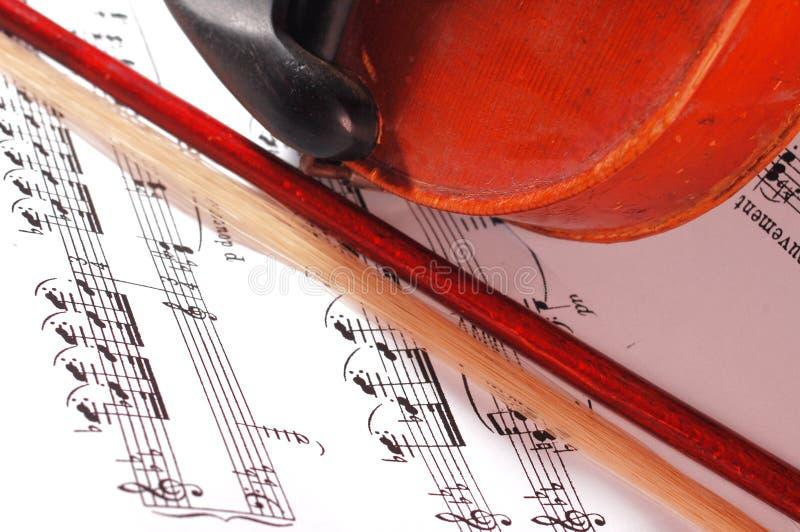 Violino e nota fotografia de stock royalty free