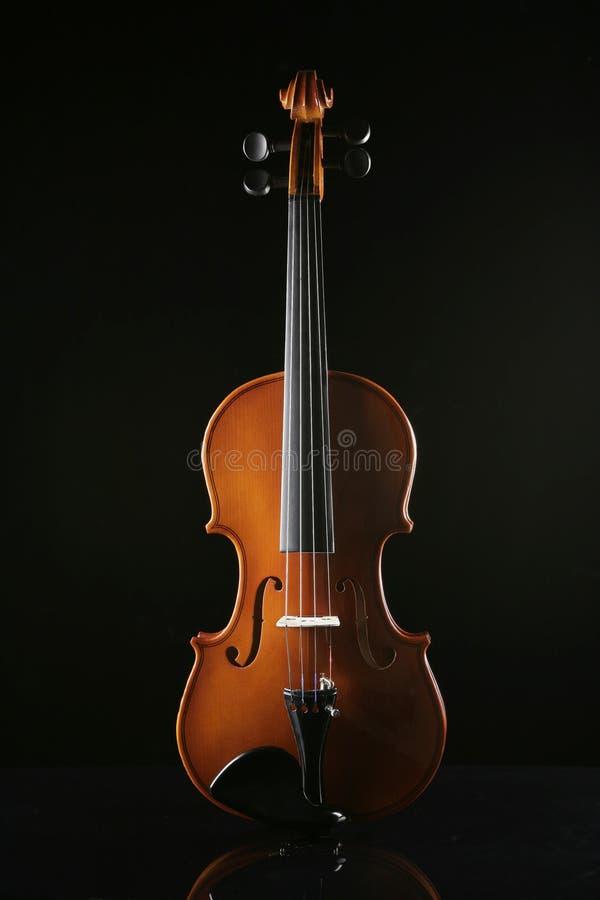 Violino em um fundo preto foto de stock