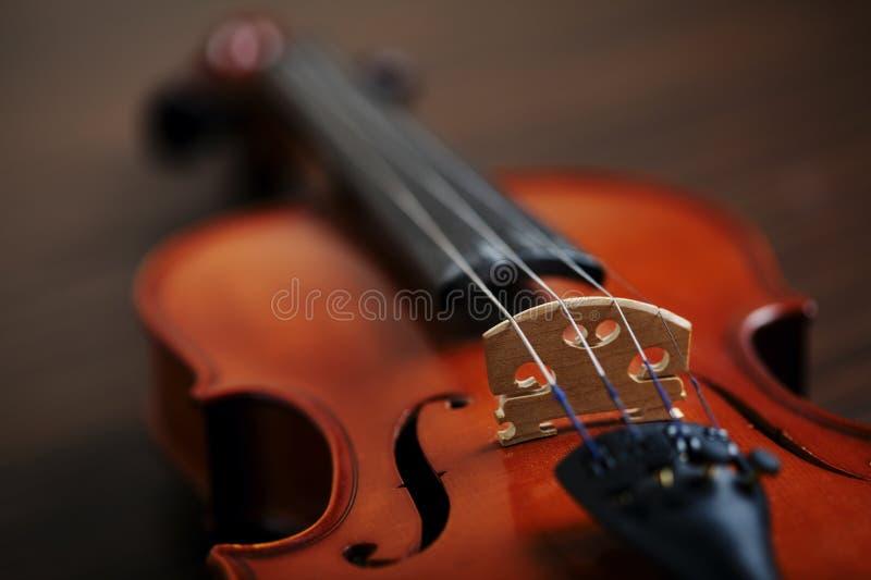 Violino feito a mão envelhecido fotografia de stock