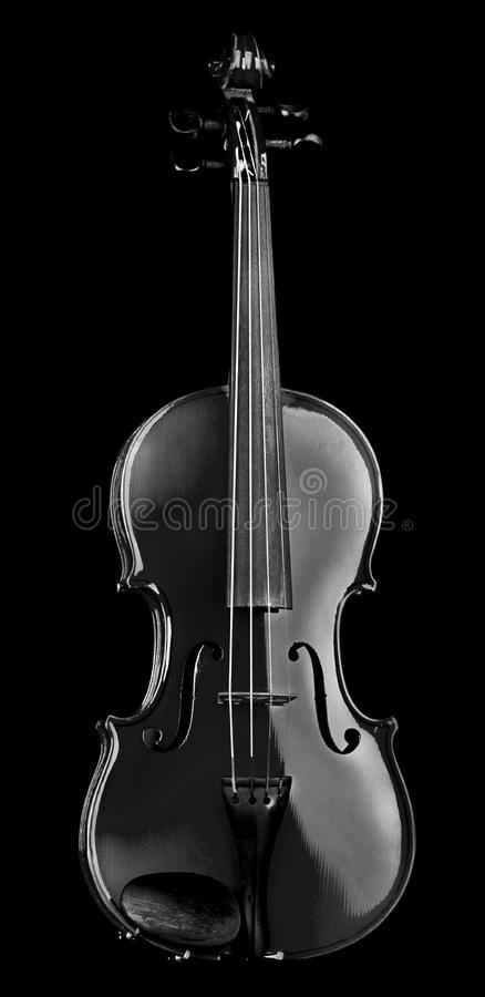 Violino isolato sul nero fotografie stock libere da diritti