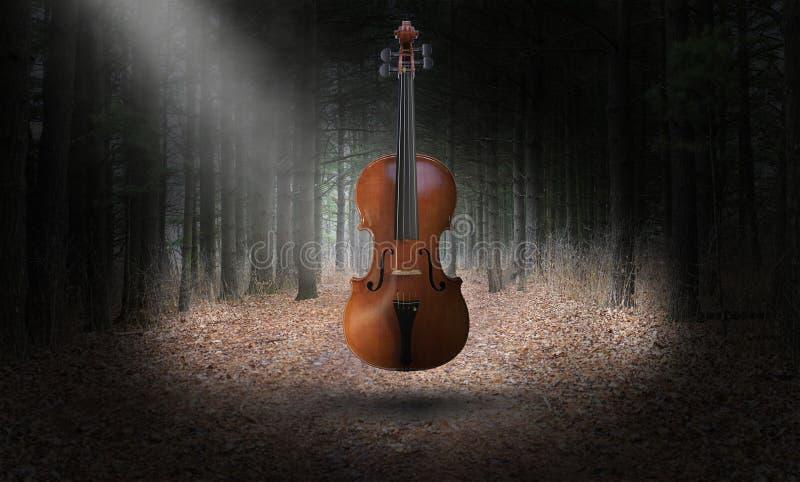 Violino surreal, música, instrumento de Misical fotos de stock