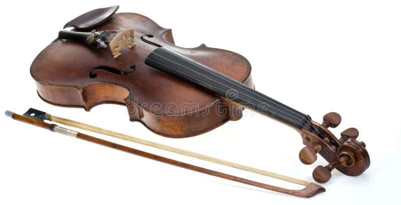 Violino velho foto de stock