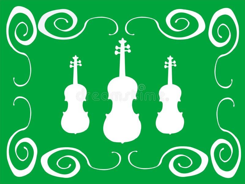 Violinos brancos ilustração do vetor