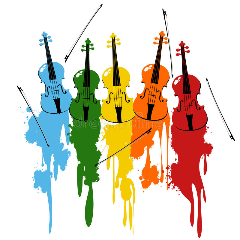 Download Violins background stock vector. Image of artistic, abstract - 15317421